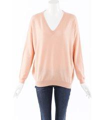 brunello cucinelli cashmere knit sweater pink/orange sz: l