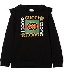 gucci black cotton hoodie