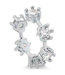 piercing francisca joias francisca joias de pressão para orelha com pontos de luz folheado em ródio