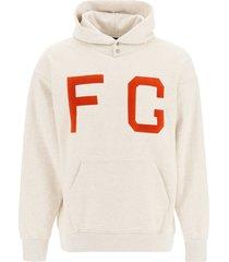 fear of god monarchs sweatshirt with flocked fg logo
