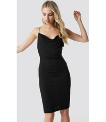 na-kd party glittery spaghetti strap dress - black