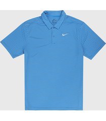 polo azul-blanco nike dri-fit