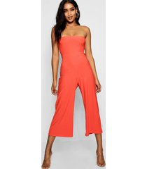 bandeau culotte jumpsuit, orange