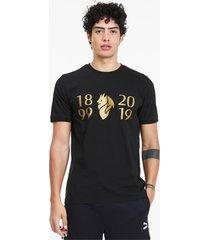 ac milan 120-jarig bestaan t-shirt voor heren, goud/zwart/aucun, maat xs | puma