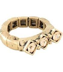 anel armazém rr bijoux cristais pedra mel