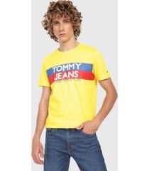 camiseta amarillo-rojo-azul tommy jeans