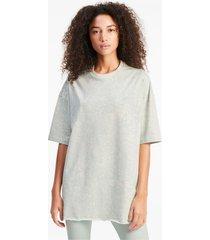 all-over printed oversized t-shirt voor dames, grijs, maat xs | puma