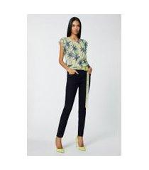 calca basic skinny midi amaciada jeans - 44
