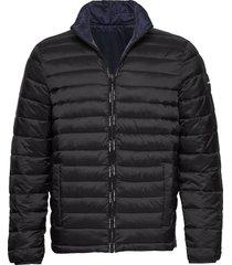 reversible nylon jacket gevoerd jack zwart calvin klein