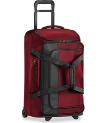 men's briggs & riley medium 27-inch rolling duffle bag - red