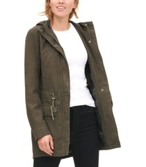 levi's women's cotton hooded fishtail parka jacket
