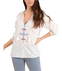 blusa algodón orgánico rachel crema rockford