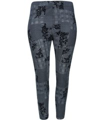 legging bosse estampado color blanco, talla 16