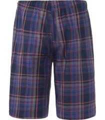 korte pyjamabroek met ruitdessin van jockey rood