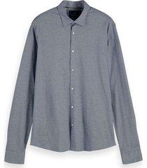 regular fit knitted dress shirt