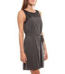 korte jurk vero moda virgo s/l robe 97034 anthracite