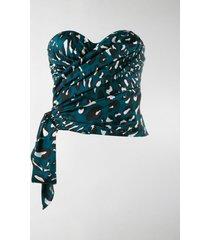 alexandre vauthier strapless draped top