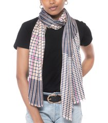 inc international concepts houndstooth twill scarf, created for macy's