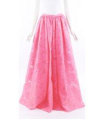 erdem lydell pink floral jacquard maxi skirt pink sz: s