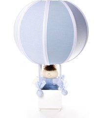 abajur balãozinho potinho de mel azul