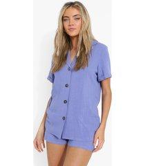 baggy linnen blouse, blue