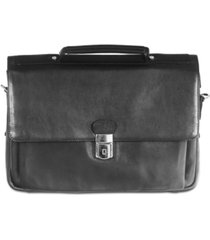 """mancini colombian collection triple compartment 15"""" laptop briefcase"""
