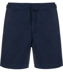 orlebar brown buckle chino shorts - blue
