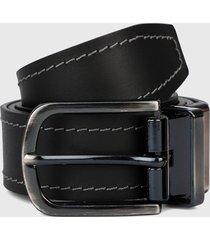 cinturón doble faz negro-azul oscuro colore