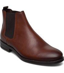 jfwjason leather chelsea cognac shoes chelsea boots bruin jack & j s