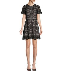 embroidered lace a-line dress