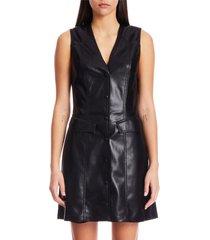 nanushka menphi vegan leather dress