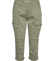 cheryl cargo 3/4 pant pantalon met rechte pijpen groen mos mosh