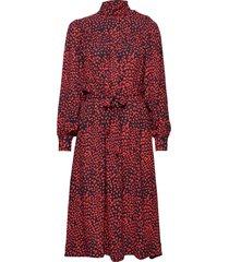 linda dress knälång klänning röd nué notes