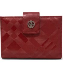 giani bernini framed indexer embossed plaid wallet, created for macy's