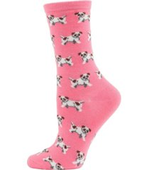 dogs cashmere women's crew socks