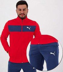 agasalho puma techstripe tricot suit masculino - masculino