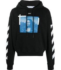 off-white photograph-print hooded sweatshirt - black