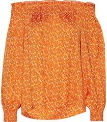 neva blouse lange mouwen oranje rodebjer