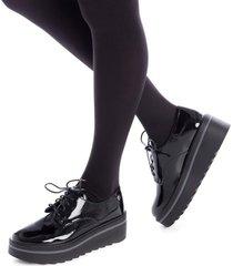 zapatos oxford de mujer xti color negro xti - negro