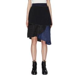 deconstructed wool mohair blend tier skirt