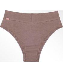 calã§a recriar lingerie plus size cã³s alto com reforã§o castanho - castanho - dafiti
