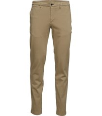chaze-high stretch chinos byxor brun j. lindeberg