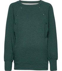 maternity nursing snap-button sweatshirt sweat-shirt tröja grön gap