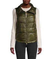 woolrich women's clarion puffer vest - tropical green - size xl