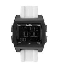 relógio digital condor masculino - cobj2649akt6p preto