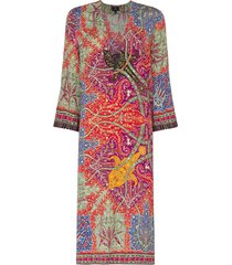 etro paisley-print tunic dress - red