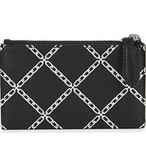 chain-link leather card & coin case