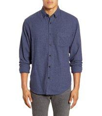 men's rails runson regular fit flannel button-down shirt, size xx-large - blue