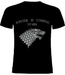camiseta game of thrones stark plateado