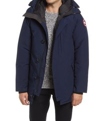 canada goose men's chateau slim fit 625 fill down parka, size large in atlantic navy at nordstrom